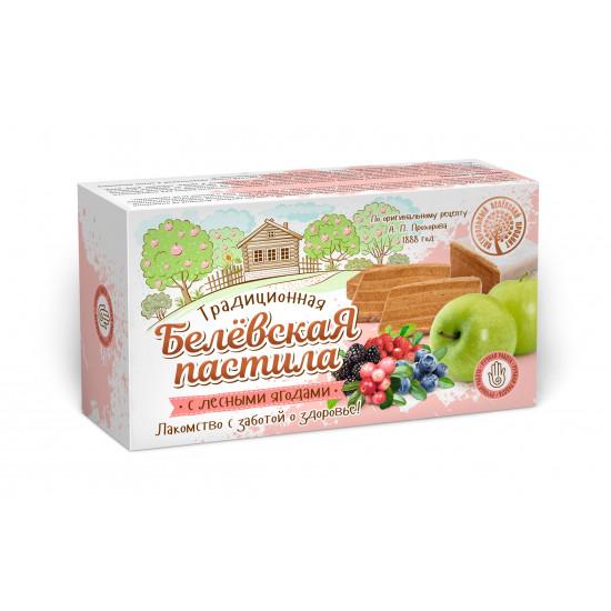 Белевская пастила с лесными ягодами, 100 грамм