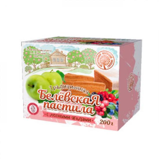 Белевская пастила с лесными  ягодами, 200 грамм
